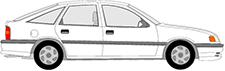 VECTRA A Šikmá zadní èást (J89)